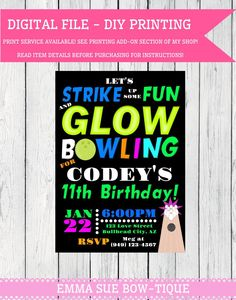 Bowling Night Flyer  Poster Template  It Is Flyers And Will Have