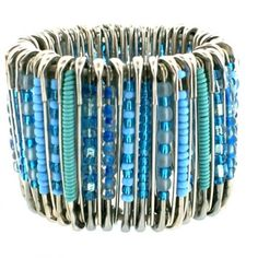 DIY Yourself Beaded PIN Bracelet ...I want to make one! So easy!!! ---- I HAVE ONE OF THESE A PATIENT MADE ME =] LOVE IT