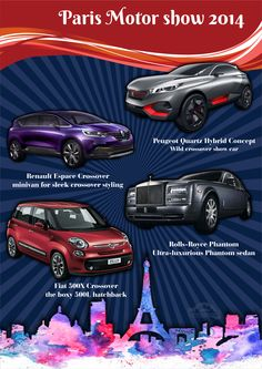 Paris Motor Show 2014 unveiled   for more details stay tuned with MotorMistri  #Fiat500XCrossover #RollsRoycePhantom #RenaultEspaceCrossover #PeugeotQuartzHybridConcept #ParisMotorShow2014 #ParisMotorShow #MotorMistri