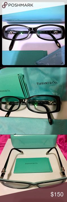 Tiffany 👗👓TF2074 Eyeglasses Tiffany Eyeglasses authentic.                        Shape: Cat Eye Material: Plastic Rim: Full Rim Temple: Skull Bridge: Saddle Gender: Female Age Group: Adult Case: Tiffany Blue case Country: Italy Category: Eyeglasses Product Group: Prescription Eyeglasses Trim: Visible logo. *Brand new/trade value 250 Tiffany & Co. Accessories