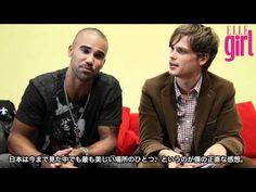 meeting Matthew Gray Gubler & Shemar Moore in TOKYO 2011