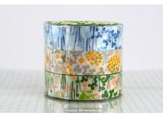 Pretty Little Garden Floral Washi Japanese Tape - Japanese Washi Tape (Rice paper tape)