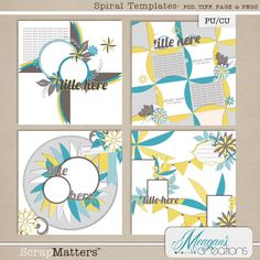 Spiral Templates pack freebie from Meagan's Creations