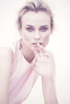 Diane Kruger, photographed by Matthew Brookes for InStyle, April 2013.