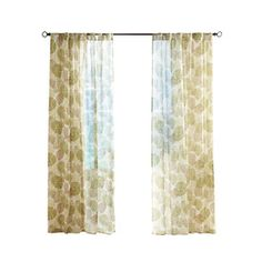 Solaris 108-in L Sage Paolo Outdoor Sheer Curtain