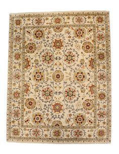 Suzani Hand-Made Rug (4'x6') by FJ Kashanian at Gilt