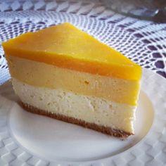 Sernik z musem z mango Polish Easter, Mango, Cheesecakes, Sweet Recipes, Food And Drink, Cooking Recipes, Christmas, Sweet, Bakken