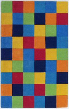 color block 100% wool rug from westoncarpet.com
