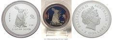 RITTER Australia, 2 Dollars 1999, Lunar I - Year of the Rabbit, PROOF #coins #numismatics