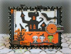 Romy Veul created this adorable Halloween card using the new Fright Delight collection. Love all the fun elements. #BoBunny, @Romy Veul