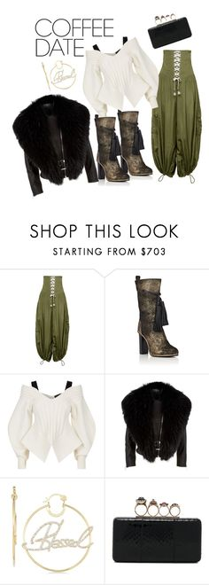 """""""Coffee Date"""" by styled-by-quoise ❤ liked on Polyvore featuring Puma, Burberry, Harrods, Simone I. Smith, Alexander McQueen and CoffeeDate"""