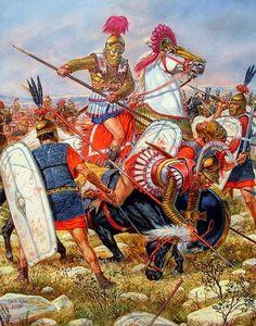 La Batalla de Magnesia fue librada en el año 190 a. C. cerca de Magnesia, en las planicies de Lidia, entre el ejército romano, dirigido por el cónsul Lucio Cornelio Escipión y su hermano, el general Escipión el Africano, con su aliado Eumenes II de Pérgamo contra el ejército de Antíoco III Megas, del Imperio seléucida, apoyado por los gálatas. La decisiva victoria romana terminó la guerra por el control de Grecia.