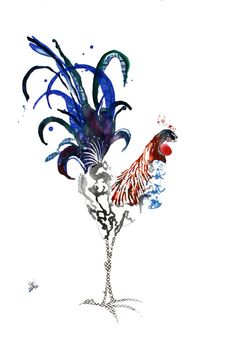 Rooster Limited Edition Farm Art Print from by NicoleKristiana