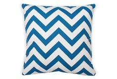 Chevron 20x20 Pillow, Royal Blue on OneKingsLane.com