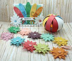 Paper Floral Lei l Beach Party Ideas l www.CarolinaDesigns.com