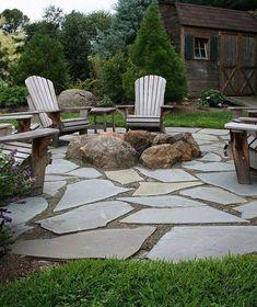 Flagstone Patio, Pergola Patio, Pergola Kits, Pergola Ideas, Patio Stone, Patio Awnings, Cheap Pergola, Diy Patio, Stone Patios