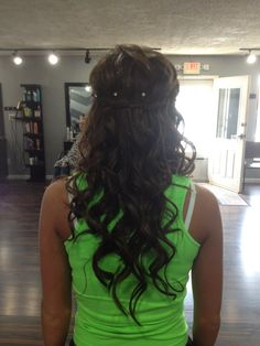 Homecoming or prom hairstyle
