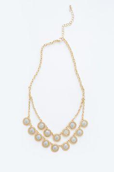 Jane Grey Jeweled Round Necklace