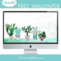Guess what? I'm back with another succulent freebie. I warned you last week that I was on a cacti/succulent kick and would be sharing mor. Macbook Pro Wallpaper, Free Desktop Wallpaper, Trendy Wallpaper, Wallpaper Pc, Wallpaper Free Download, Pretty Wallpapers, Wallpaper Downloads, Pattern Wallpaper, Wallpaper Backgrounds