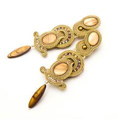 Black Friday big gold earrings for holiday by MANUfakturamaanuela, $62.00