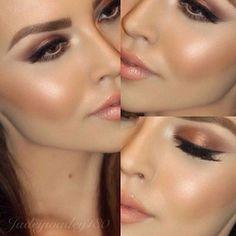 """Sombra coral #maquiagem #makeup #make"" More"