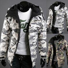 Men Military Camo Jacket 2 Colors Hommes Minces, Parka Homme, Veste Hiver  Homme, c9102db9657e