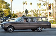 old Ford Station wagon, dowtown LA
