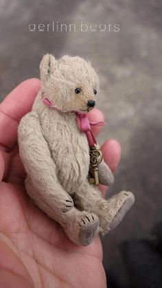 Rafiki Mini Miniature 9 cm Viscose Artist Teddy by aerlinnbears