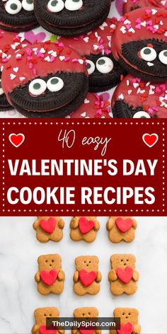 Easy Valentines day cookies to spoil your loved ones this Valentine's day. These Valentines cookie recipes are all super cute and everyone will love them! #valentines Valentines Day Food, Valentines Day Cookie Recipe, Valentines Recipes, Valentine Day Cupcakes, Bite Size Desserts, Spoil Yourself, Dessert For Dinner, Cookie Recipes, Breakfast Recipes