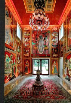 India Fantastique: A peek into Abu Jani and Sandeep Khosla's Work in Fashion and Interior Design Interior Ceiling Design, Indian Interior Design, Interior And Exterior, Bohemian Interior, Indian Furniture, Furniture Decor, Painted Furniture, Design Furniture, Furniture Outlet