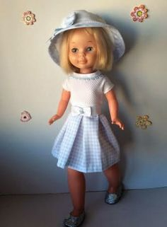 "Vestidos Para Nancy ""El Costurero De Chus"": mayo 2014 American Doll Clothes, Girl Doll Clothes, Girl Dolls, American Dolls, Vestidos Nancy, American Girl, Nancy Doll, Wellie Wishers, Couture"