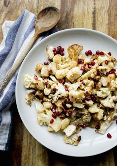 Roasted Cauliflower with Easter Egg Radishes and Pomegranate Seeds | Paleo Recipes to Make This Thanksgiving