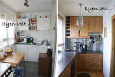 Flat Ideas, Apartment Therapy, Tiny House, Kitchen Design, Sweet Home, Kitchen Cabinets, Studio, Home Decor, Small Kitchens