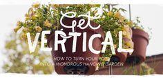 Vertical clay pot garden. DIY by The Horticult / Ryan Benoit Des