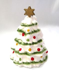 Lefton Napkin Holder Christmas Tree 1960s by SharetheLoveVintage