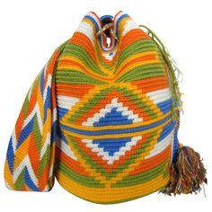 Lime Mochila Bag $90.00 FREE SHIPPING | Handmade and Fair Trade Wayuu Mochila Bags – LOMBIA & CO. | www.LombiaAndCo.com