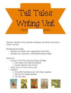 Tall tales activities for grades 3 6 tall tales activities tall tales writing unit pronofoot35fo Gallery