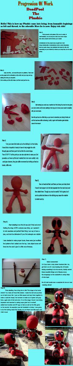 Deadpool Plush Progression by *Nerual-Saylar on deviantART