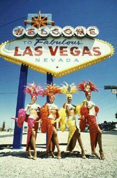 Vintage Vegas - sign & showgirls