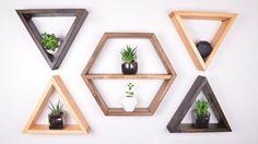 MEDIUM HONEYCOMB SHELF  Honeycomb shelves Hexagon by GRAINandGRIT