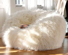 I like the bean bag. I don't know if it would fit in my room though. I love the soft fluffy bean bag. I think it would be cute in my room. My New Room, My Room, Girl Room, Living Room Furniture, Home Furniture, Furniture Chairs, Room Chairs, Office Chairs, Furniture Ideas