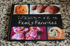 A Family cookbook - complete with photos and family memories