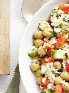 Salade de riz aux pommes et au poivron Recettes | Ricardo