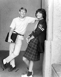 """The movie """"American Graffiti"""" with Ron Howard and Cindy Williams"""