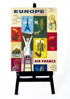 * MINI POSTER - AIR FRANCE - EUROPA