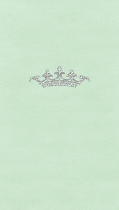 Mint pastel green silver glitter crown iphone wallpaper phone background lock screen
