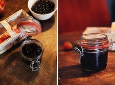 Making blueberry jam, Berlin