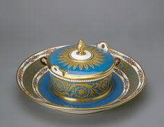 Sèvres Hand Decorated Porcelain Butter Dish from the Cameo Service, Hermitage Museum, Ceramics, Digital, Butter Dish, Tray, School, Museums, Porcelain, Ceramic Art