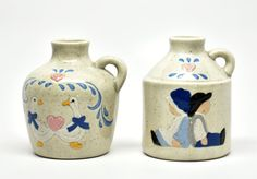 Vintage Miniature Ceramic Jugs Amish Country Geese by DabaDos