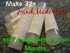 Make 32+ Handmade Skin Care Gifts with 9 Ingredients in 90 Minutes